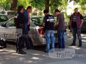Очевидец на зрелищния арест в Пловдив: Спецполицаи засякоха колите, у двамата имаше много пари ВИДЕО