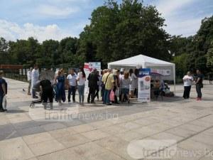 Опашка за мерене на кръвно налягане се изви в центъра на Пловдив СНИМКИ