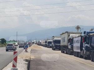 Протестиращите превозвачи в Пловдив: Обричат стотици семейства на глад и мизерия ВИДЕО