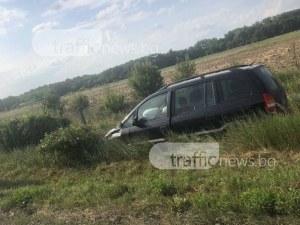 Хеттрик от катастрофи на пътя Чирпан - Пловдив СНИМКИ