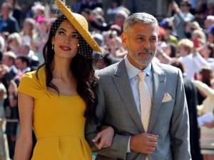 Джордж Клуни е сред късметлиите, танцували с Меган на кралската сватба