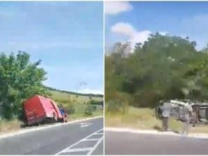Тежка катастрофа стана преди минути на пътя Пловдив-Карлово ВИДЕО