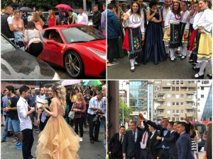 Ферари, рози и носии пред Новотела! Хуманитарната знаят как да се забавляват СНИМКИ