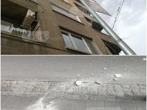 Мазилка в центъра на Пловдив едва не уби жена, собствениците на сградата нехаят СНИМКИ