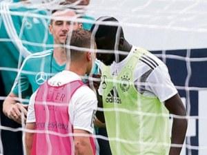 Играчи на световния шампион Германия едва не се сбиха преди Мондиала