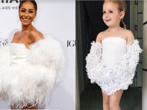 Майка облича дъщеря си като холивудска звезда СНИМКИ