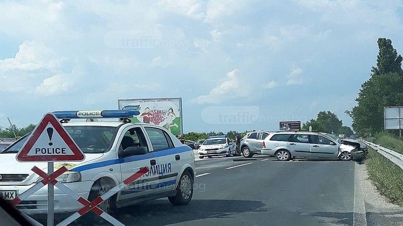 Издирват извършителката на катастрофата на пътя Пловдив - Карлово