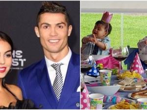 Кристиано Роналдо не успя да присъства на първия рожден ден на близнаците си