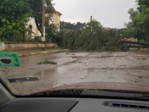 Градушка удари Триград, пороен дъжд наводни улици в страната