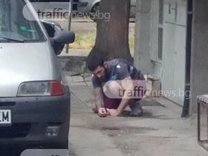 Наркоман със спринцовка броди в Кючука, размахва юмруци СНИМКИ