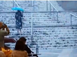 Гръмотевична буря и проливен дъжд в София ВИДЕО