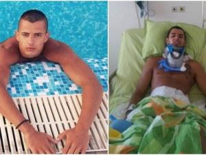 След нелеп инцидент в басейн, Дани загуби способността си да ходи! Нужни са 5000 лева, нека помогнем