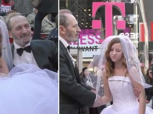 Той е на 65, тя на 12! Как реагират хората отстрани на брака им ВИДЕО