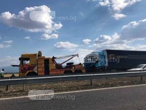 Двете катастрофи край Пловдив напълно блокираха магистралата, колоната - над 5 километра ВИДЕО+СНИМКИ