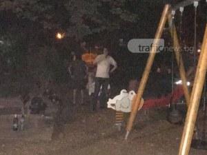 Вандалщина в Пловдив! Дрогирани рушат детски кът в центъра СНИМКИ