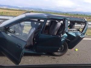 Катастрофа и огромна тапа на магистралата! От Пловдив за морето колите едва пъплят