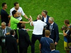 Грозни сцени след драматичната победа на Германия срещу Швеция