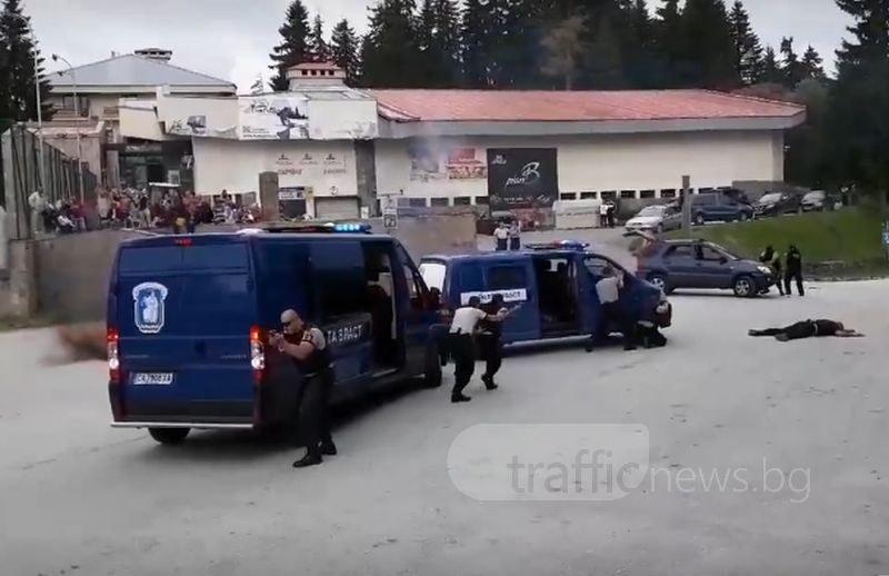 Престрелка край Пампорово! Нападнаха конвой със строго пазени престъпници СНИМКИ и ВИДЕО