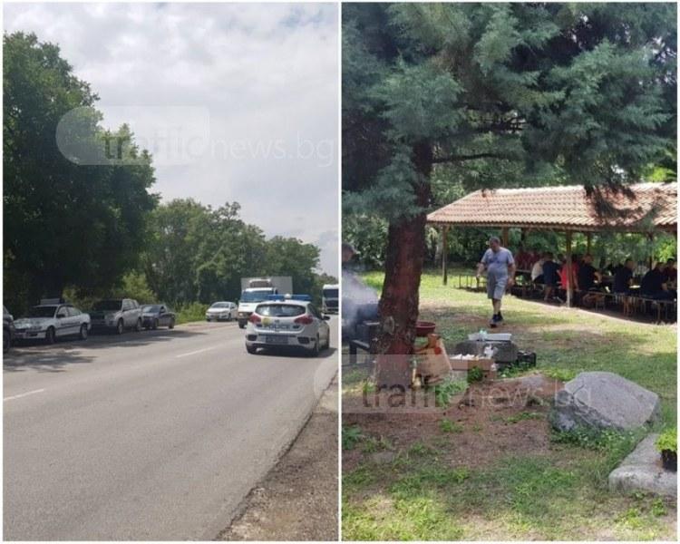 Полицейска блокада и жандармерия до Пловдив! Причината - жертвите на пътя СНИМКИ
