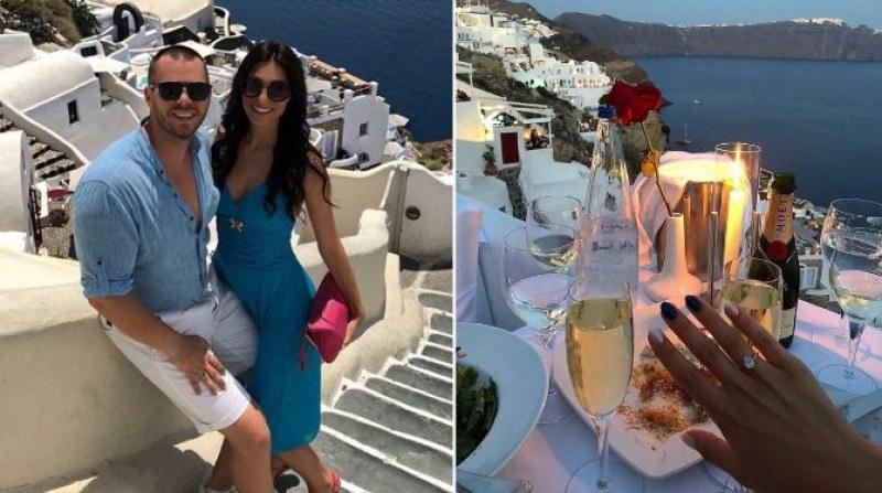 Бивша адреналинка от Асеновград се сгоди на най-романтичния гръцки остров СНИМКИ