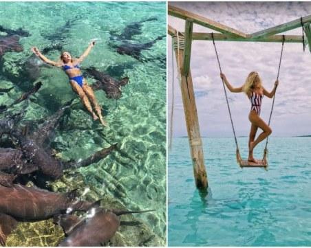 Акула едва не отхапа ръката на моделка, докато позира за снимки СНИМКИ