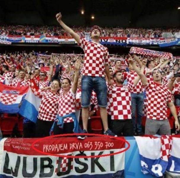 Дървар използва триумфа на Хърватия за реклама