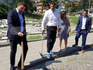 Аджисана става образцов квартал! Голямото разкопаване в центъра на Пловдив започна ВИДЕО