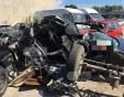 Колата, в която загинаха трима мъже, е сгъната на две, задържаха водача на трактора СНИМКИ и ВИДЕО