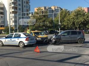 Катастрофа в Тракия! Възрастен мъж е откаран в болница СНИМКИ