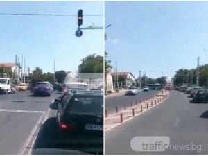 Хаос на кръстовището на Чифте баня! Светофарите отново не работят ВИДЕО