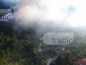 Пожарът над Карлово се разрасна! Огнената стихия обхвана над 100 декара СНИМКИ и ВИДЕО от ДРОН