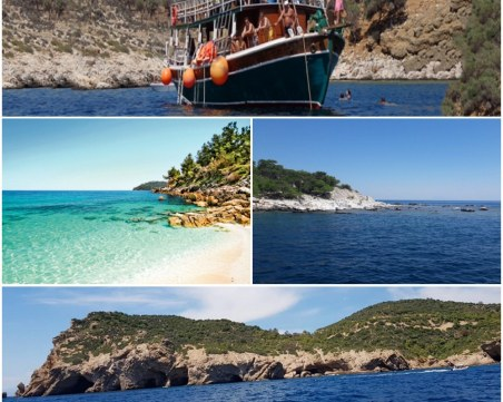 Разходка с лодка! Да обиколиш Тасос за един ден по вода СНИМКИ