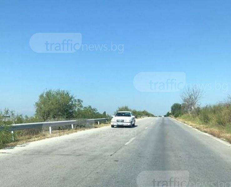 Камикадзе: Шофьор се заби в насрещното край Пловдив СНИМКИ