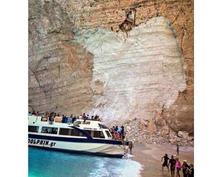 Седем са пострадалите при срутване на скали на остров Закинтос