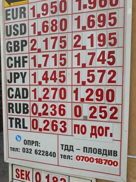 """Турската лира отново се срина, чейндж бюрата в Пловдив продават само """"по договаряне"""""""