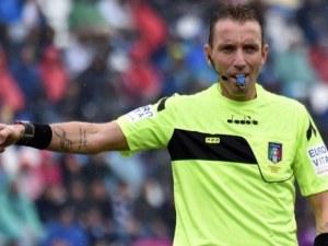 Ценител на червените картони свири на Лудогорец в Лига Европа