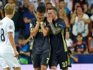 Роналдо се разплакал след червения картон, сестра му побесня