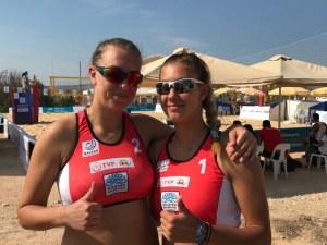 Никол и Ася тръгнаха с победа на Балканиадата по плажен волейбол