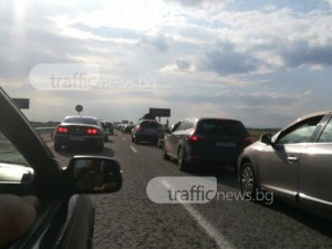 "Очаквано! Огромно задръстване на АМ ""Тракия"" между София и Пловдив"