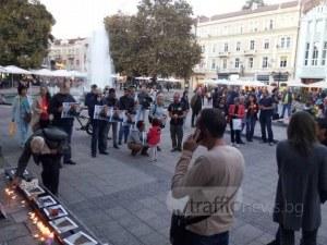 Пловдив почете паметта на убитата журналистка Виктория Маринова СНИМКИ