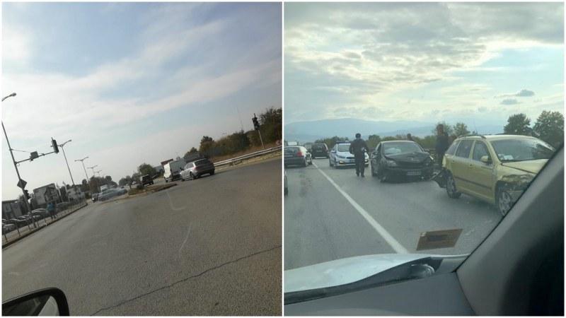 Две катастрофи блокираха Пазарджишко шосе СНИМКИ