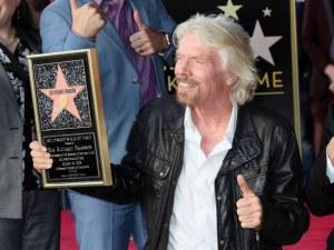 Милиардерът Ричард Брансън се сдоби със звезда на Алеята на славата