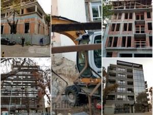 На мястото на бутнати къщи в центъра на Пловдив изникват жилищни кооперации СНИМКИ