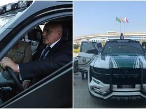 Борисов подкара спортен полицейски автомобил в Дубай СНИМКИ и ВИДЕО