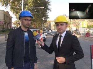 Роми атакуват коли с пътни знаци на магистралата край Пловдив ВИДЕО