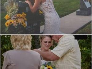Млада жена направи сватбата си на гроба на своя любим ВИДЕО