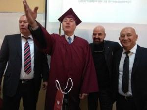 Топ каратист дойде в Пловдив! Пловдивският университет го удостои с професорско звание
