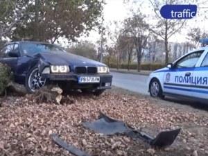 БМВ-то, размазано в Тракия, е на пловдивски пожарникар, роми го откраднали от сервиз ВИДЕО