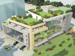 Мини парк изниква върху покрива на нов хотел в Пловдив СНИМКИ