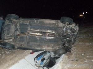 Мъртвопиян заби колата си в канавка край Пловдив